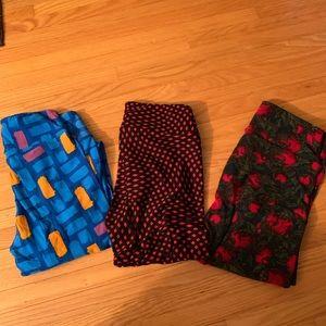 LuLaRoe 3 pairs new leggings